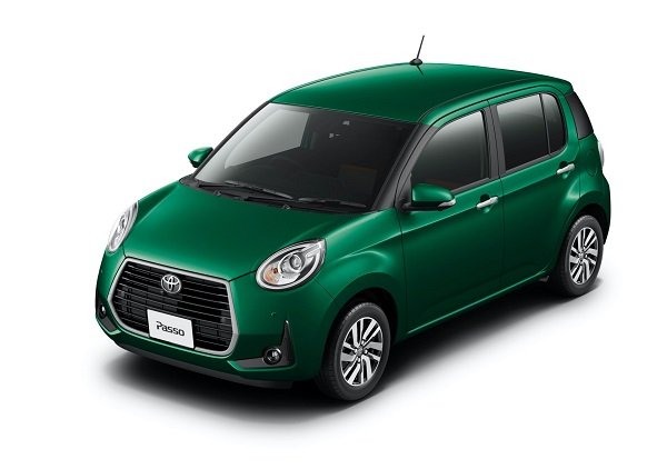 image-of-Toyota-Passo-moda-Charm-front-view-green-colour