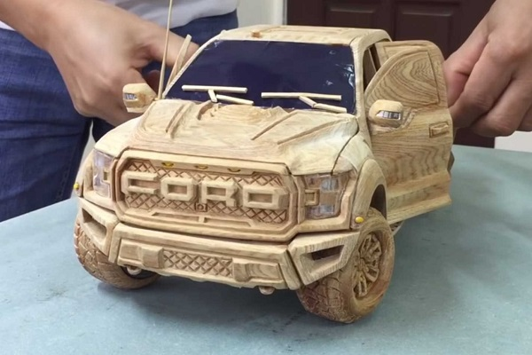 image-of-carved-out-wooden-ford-ranger-raptor