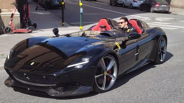 image-of-zlatan-ibrahimovic-spotted-in-his-rare-Ferrari-Monza-SP2