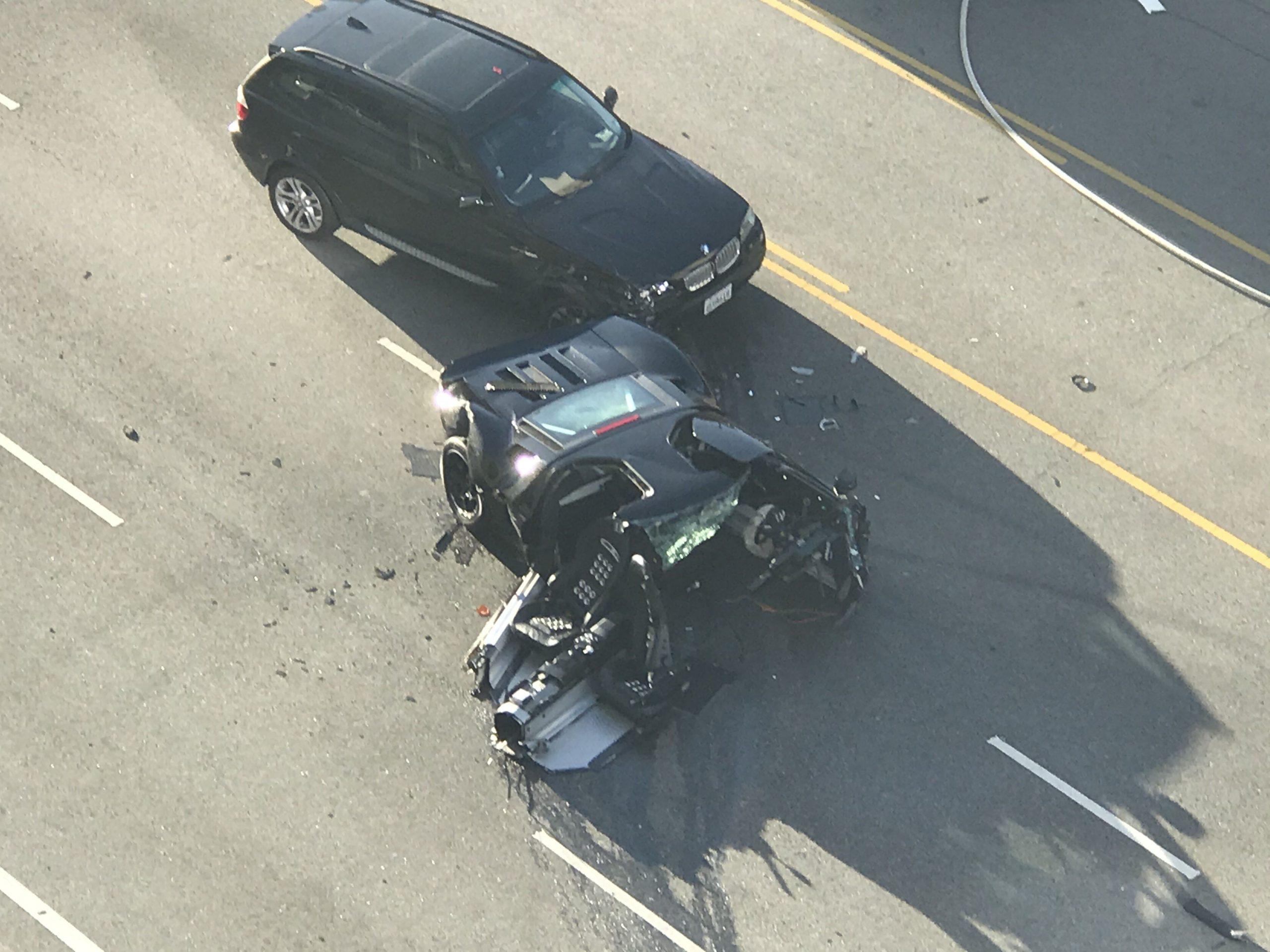 Ford GT wrecked in L.A crash with Alfa Romeo Giulia QV