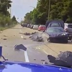Stolen C8 Corvette Destroyed As Thieves Try To Outrun Cops
